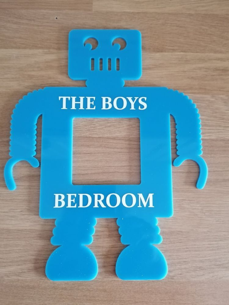 Personalised Acrylic Robot Light Surround